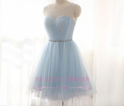 Newest   Party Dress A-line Beads Mini Baby Blue Homecoming Dress BA3644_1