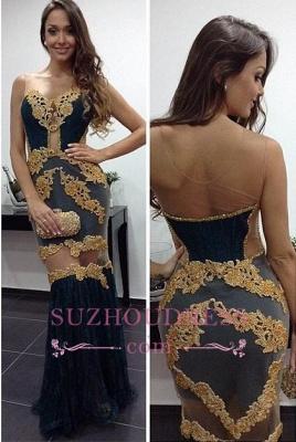 Tulle Column Newest Prom Dresses   Floor Length Sheath Sexy Evening Dress_2