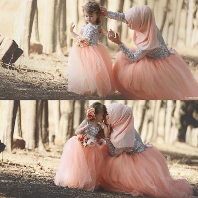 Tulle Cute Sequined  Flower Girl Dresses Lovely Sequined Girls Pageant Dress BA0657_2