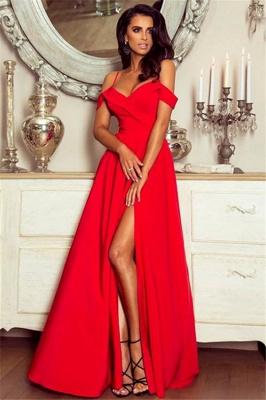 Spaghetti Straps Black Formal Dresses   Sexy Split Long Evening Gown BA7614_3