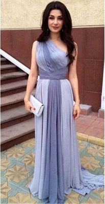 Junoesque Multi Colors One Shoulder Prom Dresses Popular Ombre Bridesmaid Dress_1