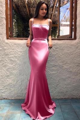 Spaghetti Straps Sexy Mint Evening Dresses  | Sleeveless Mermaid Long  Formal Prom Dress_3