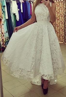A-Line Black Hi-Lo Lace Prom Dress Latest Custom Made Sleeveless Belt Long Evening Dress BA3906_3