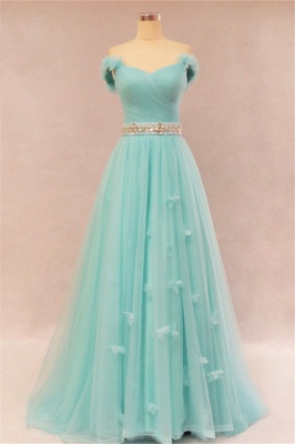 Elegant Sweetheart Ruffles Strapless Evening Dresses  Rhinestone Lace Up Prom Gowns_3
