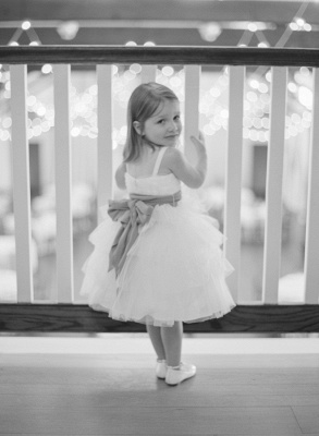 Cute Bowknot Tulle Tea Length Flower Girl Dress New Arrival Custom Made Dresses for Girl_1