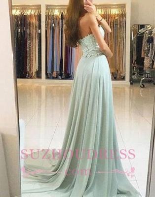 Glamorous A-line Appliques Evening Dresses  | Chiffon Sweetheart Prom Dress_1