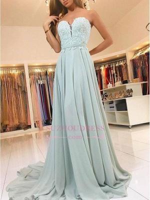 Glamorous A-line Appliques Evening Dresses  | Chiffon Sweetheart Prom Dress_3
