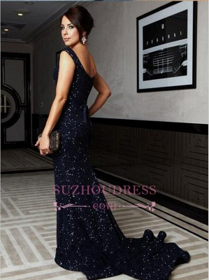 Sweep Train Cap Sleeve Bow Gorgeous Mermaid Sequined Prom Dress_1