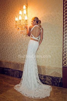 Halter Crystals Beadings Wedding Dresses  Mermaid Sweep Train Open Back Bridal Gowns SZSM236_1
