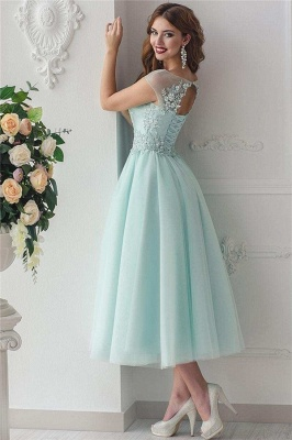 Glamorous Jewel Green Tulle Lace Short Prom Dress Sleeveless Beading Appliques Party Dresses On Sale_3