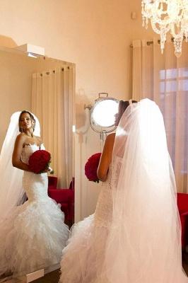 Elegant Strapless Sheath  Wedding Dresses Organza Sheer Back Mermaid Bridal Dresses BO7794_4