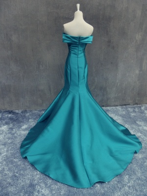 Elegant Off the Shoulder Mermaid Prom Dress New Arrival Zipper Cystom Made  Evening Gown_3