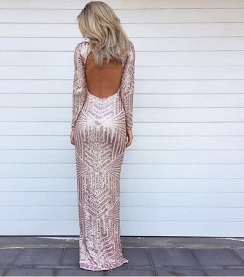 Backless Asymmetric Glitter Dress For Evening Party Hi-lo Prom Gowns CE0057_2