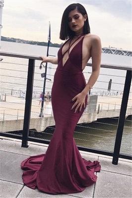 Sexy V-neck Spaghetti Straps Prom Dress | Mermaid  Evening Gown_1