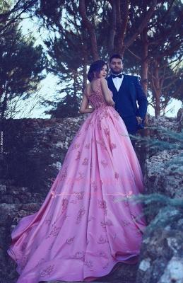 Sleeveless Candy Pink Appliques Evening Dress A-Line  Popular Prom Dress BA4562_5