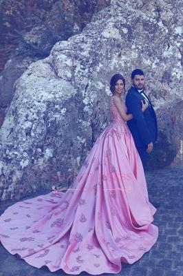 Sleeveless Candy Pink Appliques Evening Dress A-Line  Popular Prom Dress BA4562_3