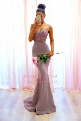 Sexy Mermaid Spaghetti-Straps Evening Dress  | Lace Sleeveless Formal Dresses_3