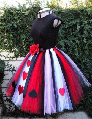 New Arrival Cute Tulle Short Halloween Costume Popular Flower Plus Size Mini Homecoming Dress_1