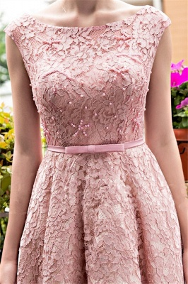 Lace-up Lace Tea-Length Beadings Glamorous A-Line Homecoming Dresses BA4112_3