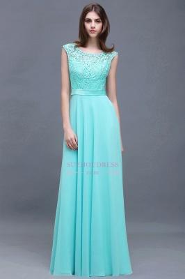 Glamorous Scoop Lace-Appliques A-Line Chiffon prom dresses_5