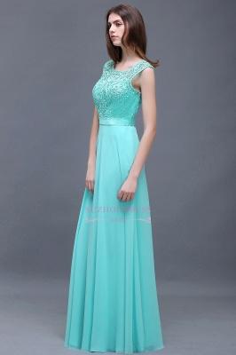 Glamorous Scoop Lace-Appliques A-Line Chiffon prom dresses_4