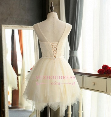 Mini Tulle Elegant Sleeveless A-Line Homecoming Dresses_5