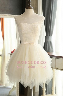 Mini Tulle Elegant Sleeveless A-Line Homecoming Dresses_2