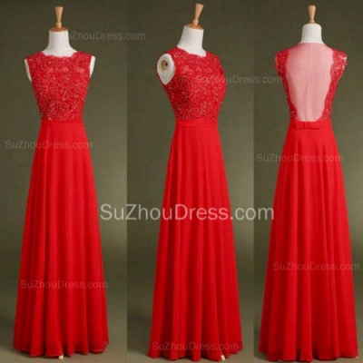 Red Chiffon Long Prom Dress with Beadings Nwe Arrival Custom Made Tulle Special Occasion Dresses_2