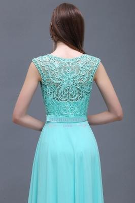 Glamorous Scoop Lace-Appliques A-Line Chiffon prom dresses_3