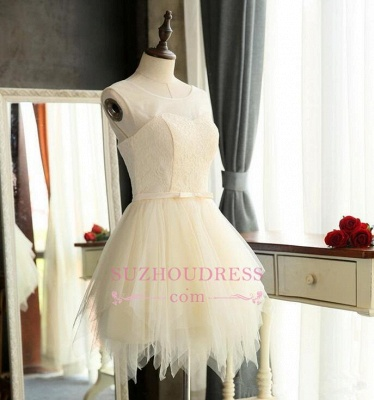 Mini Tulle Elegant Sleeveless A-Line Homecoming Dresses_4