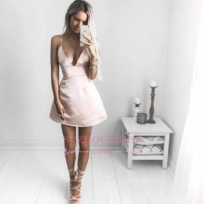 Short V-neck Homecoming Dress | Sexy  Spaghetti Straps Party Dresses_1