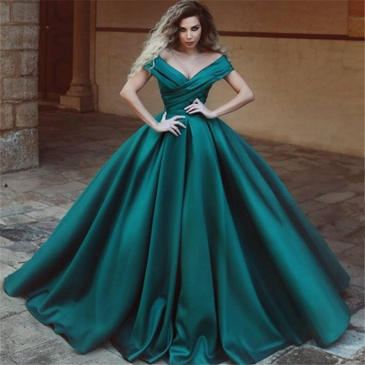 Off The Shoulder Puffy Evening Dress  | Elegant New Arrival Sexy Formal Dress_3