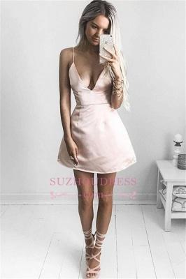 Short V-neck Homecoming Dress | Sexy  Spaghetti Straps Party Dresses_2