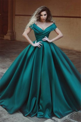 Off The Shoulder Puffy Evening Dress  | Elegant New Arrival Sexy Formal Dress_1