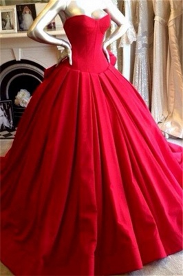 Red Sweetheart Charming Prom Dress Fashional Glorious  Wedding Dress_1
