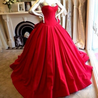 Red Sweetheart Charming Prom Dress Fashional Glorious  Wedding Dress_2