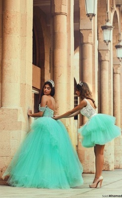 A-Line Lace Tiered Tulle  Short Party Dress Gorgeous Custom Made homecoming Dresses_2