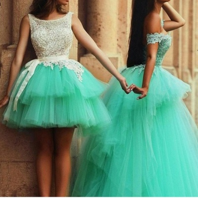 A-Line Lace Tiered Tulle  Short Party Dress Gorgeous Custom Made homecoming Dresses_3