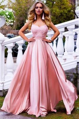 Spaghetti Straps Pink Formal Evening Dresses | Sexy Sleeveless   Ball Dresses AN0007_1