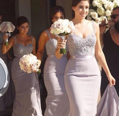 Mermaid  Bridesmaid Dress Lace Beading Bridal Party Maid of Honor Dresses_2