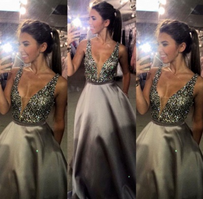 New Arrival Crystal A-Line Prom Dress Latest Beading Floor Length Formal Occasion Dresses BA3165_3