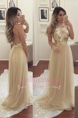A-line Sleeveless Spaghetti-Strap Chiffon Newest Beads Prom Dress SP0343_1