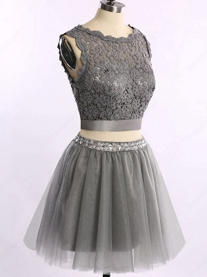 Cute Two Piece Short Cocktail Dresses New Arrival Lace Mini Homecoming Gowns_4