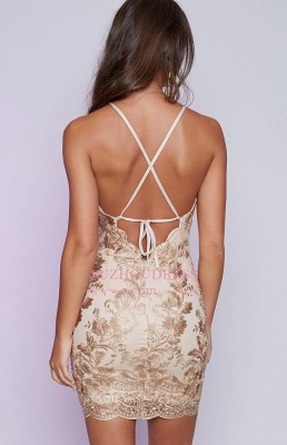 Sleeveless Backless Sexy Cocktail Dress  Lace Appliques Mini Homecoming Dress  BA6717_3