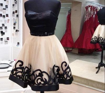 Simple Cute Sweetheart Mini Homecoming Dress Popular  Tulle Short Dress Under 100_2