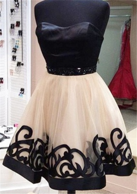 Simple Cute Sweetheart Mini Homecoming Dress Popular  Tulle Short Dress Under 100_1