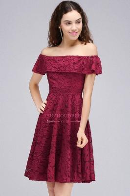 Off-the-Shoulder Burgundy Lace Short Sheath Homecoming Dresses_6