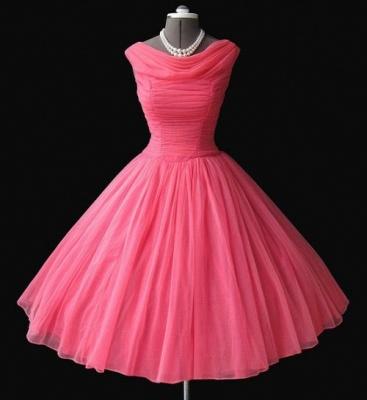 Watermelon Mini Sleeveless Vintage Homecoming Dresses Cute Elegant Cocktail Dresses BA7450_2