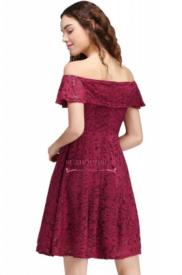 Off-the-Shoulder Burgundy Lace Short Sheath Homecoming Dresses_3