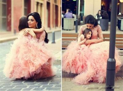 Lovely Pink Sweet Little Flower Girls Dress Puffy Cute  Girls Pageant Dresses_3